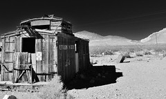 at the end of the line.... (BillsExplorations) Tags: old railroad abandoned vintage gold ruins decay nevada boom historic caboose mining bust ghosttown rhyolite goldmine bullfroghills