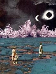 Olhando Cristais (Beatriz Meneses) Tags: collage collagecollectiveco cystals surrealism arte art surreal landscape mystical