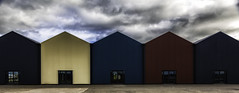 Sheds (Fifescoob) Tags: southqueensferry portedgar bridges construction scotland fife edinburgh forth engineering canon colour pattern repetition drama sky