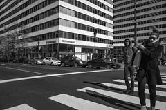 15th Street near City Hall, 2016 (Alan Barr) Tags: 15thstreet cityhall philadelphia 2016 street sp streetphotography streetphoto blackandwhite bw blackwhite candid people mono monochrome ricoh gr