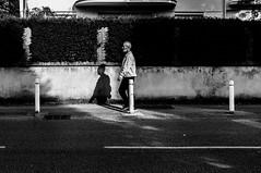 ~27~ (Julien.Rapallini) Tags: bear street light shadow urban blackandwhite man france french town basket walk lumire ombre route poteau rue marche ville homme trottoir barbu urbain ain oyonnax noiretblanxc
