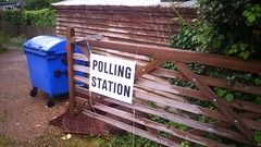 Referendum Day (My photos live here) Tags: road station sign gate european union bin polling referendum wheely bayham brexit