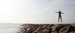 Up (venkatpraveen) Tags: nature explore travel adventure saddleaddicts fly up intheair rocks pier chennai ennore port harbour wanderlust landscape beauty morning pano canon