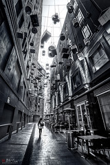 Angel Place. (Bill Thoo) Tags: ngc angelplace sydney birdcage birdcageinstallation artinstallation nsw newsouthwales australia street city urban architecture travel monochrome blackandwhite sony a7rii samyang 14mm wow
