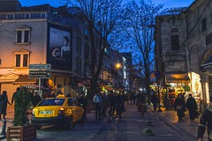 Night scene (Syahrel Azha Hashim) Tags: street travel light vacation holiday detail building colors architecture 35mm buildings turkey prime colorful dof nightshot getaway sony details streetphotography naturallight istanbul handheld shallow simple a7ii colorimage sonya7 syahrel ilce7m2