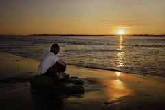 Watching the Sun Go Down... (Allan James Fisher) Tags: boy son flash nikon d810 sigma art 35mm