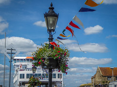 Ferry, Flags and Flowers (Rob Jennings2) Tags: isleofwight iow yarmouth ferry flags bunting