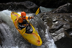 Shoot! (Dex Horton Photography) Tags: kayak chute shoot drop rapids northfork nooksackriver falls yellow outdoors outside plunger bestof washingtonstate glacier wa dexhorton