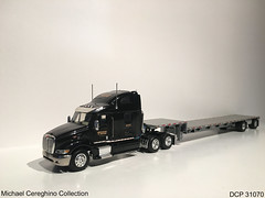 Diecast replica of TMC Peterbilt 387, DCP 31070 (Michael Cereghino (Avsfan118)) Tags: tmc flatbed dropdeck drop deck peterbilt 387 diecast die cast promotions promotion dcp 31070 semi truck replica model toy 164 scale