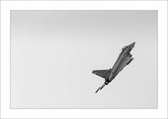 Thunder I (Frank Hoogeboom) Tags: leeuwarden location luchtmachtdagen airshow aerobatics aircraft military jet typhoon ef2000 spanish airforce demonstration monochrome