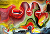 Flowing Shapes (markchadwickart) Tags: mark chadwick art paint painter painting fluid liquid fluidity color colour colourful colorful red yellow black green flow flowing shape shapes random randomness chance holes hole water melt melting abstract abstractart modern modernart figures heads