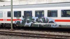 Graffiti (Honig&Teer) Tags: spraycanart sport steel eisenbahngraffiti eisenbahn honigteer hannover railroad railroadgraffiti railways train treno traingraffiti trainart ic