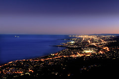 Night Lights (scott_wilson) Tags: wollongong sydney sublime lookout night ocean