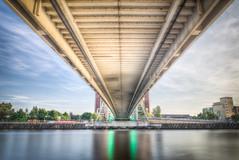 Under the bridge (Ian S Armstrong) Tags: uk manchester salford urban architecture longexposure hdr tonemap photomatix england