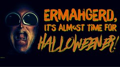 Ermahgerd! (hbmike2000) Tags: halloween typography fun humor self portrait iphoneography iphone6splus snapchat adobe photoshopfix photoshopmix typorama scream hbmike2000 deserthotsprings dark night holiday scary