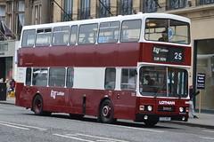 Lothian Buses Leyland Olympian 322 E322MSG - Edinburgh (dwb transport photos) Tags: lothianbuses preserved leyland olympian alexander bus decker edinburgh 322 e322msg
