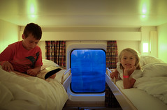 Beds and porthole (Lars Plougmann) Tags: dfds ship cot cabin children ferry dscf4675