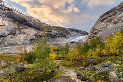 Autumn colours at Nigardsbreen (John Petter Hagen) Tags: autumn autumncolours nigardsbreen glacier norway jostedalen jostedalglacier october nikon sunset hiking blue landscape nature outdoor
