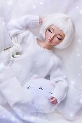 (4arllin) Tags: bjd minifee mnf chloe doll alpaca wig fairyland moe tan