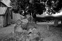 Old Graves by the Church Porch (IanAWood) Tags: spring chilterns churchyard stpaulschurch hertfordshire cofe chipperfield churchofengland hertfordshirechurches walkingwithmynikon nikkorafs1635mmf4gvr nikond800e