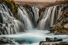 Brarfoss - Revisited (Kristinn R.) Tags: water grass river waterfall iceland moss nikon rocks brarfoss brar nikonphotography nikond300 brarrfoss kristinnr