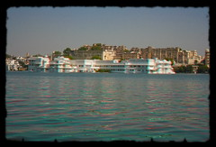 Udaipur IND - Jag Niwas Lake Palace Anaglyph color 3d