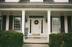 Welcome Home (3blondmice) Tags: christmas door decorations house film home analog 35mm vintage minolta kodak annarbor ornaments frontdoor 201 srt