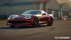 Corvette Z06 2015 (Flo-S-Photography) Tags: red england sun sexy beauty sunrise germany effects photography design big airport foto body horizon fast style headlights best german forza beast shoot