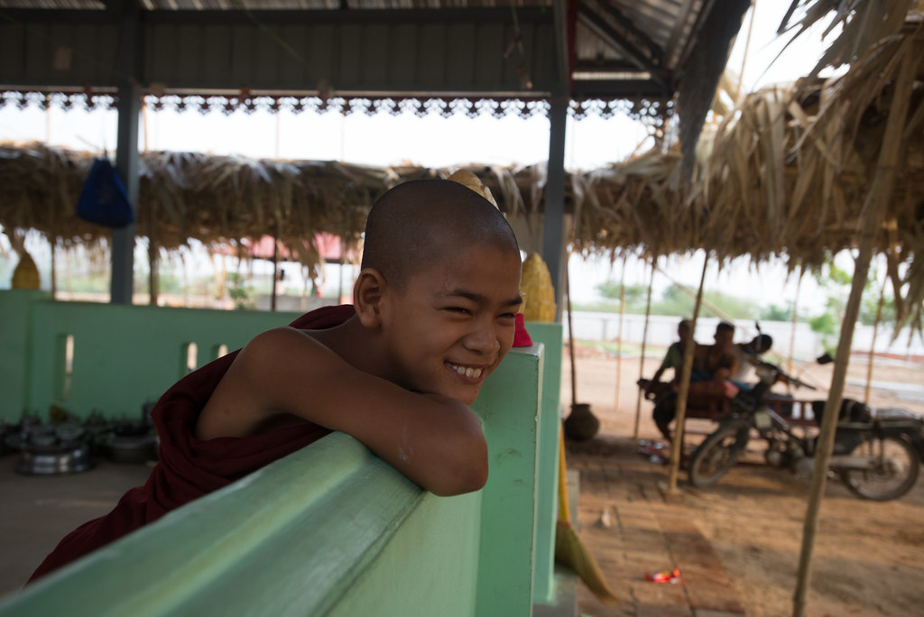 Shy monk