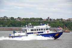 Picture Of The City Of New York Police Department Harbor Patrol Unit #701 Protecting The Naval And Coast Guard Ships During The 2015 New York City Parade Of Ships To Mark The Start Of 2015 Fleet Week In New York City. Photo Taken Wednesday May 20, 2015 (ses7) Tags: new york city harbor police department patrol unit of