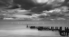 Farming Wind (Number Johnny 5) Tags: sea bw seascape water clouds long exposure wind farm stop filter ten d750 tamron groyne tiffen caister 2470mm nd30