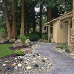 """Dry creek bed, rock bed, grass, lawn, curb appeal, driveway, bark dust, boulders <a style=""""margin-left:10px; font-size:0.8em;"""" href=""""http://www.flickr.com/photos/117326093@N05/18330894596/"""" target=""""_blank"""">@flickr</a>"""