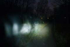 _DSF8702 (Luckybystander) Tags: night trash lowlight flash graffity snowfall flashlght