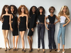 Basic Bitches.... (Gavapillar) Tags: barbie lara desiree teresa derby steffie minili barbiebasics
