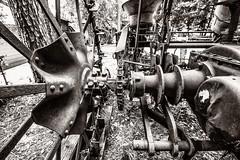 Machinery (Oliver Leveritt) Tags: nikond610 afsnikkor1635mmf4gedvr oliverleverittphotography wideangle blackandwhite monochrome sepia platinum heritagevillage woodville texas machinery tractor farm implement