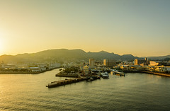 Sasebo port and city (malc1702) Tags: portcity cityscape sunlight sunset buildings water port sailing cruising travel holiday sasebo japan mountains nikond7100 nikkor18140mm light