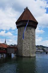 IMGP7014a (Alvier) Tags: schweiz innerschweiz luzern nationalfeiertag 1august wasserturm kapellbrcke