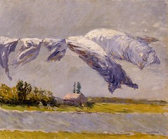 Gustave Caillebotte  Laundry Drying, Petit Gannevilliers, 1892. Painting: oil on canvas. Private collection. ImpressionismLandscape1890s (ArtAppreciated) Tags: fineart painting blogs tumblr artblogs artappreciated artoftheday artofdarkness artofdarknessco artofdarknessblog gustave caillebotte impressionism french artists art history modern 19th century date1892 1890s scapes scenes laundry landscape rural house favorite movement motion wind horizon nature