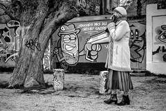 Touche pas au grisbi salope (AlpixImages) Tags: grisbi rplique culte fujifilm xt1 street rue streetphoto candid blackandwhite larochelle gabut