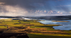 Two seasons (Premysl Fojtu) Tags: uk winter sky snow canon landscape island shower eos coast scotland countryside orkney scenery view country dramatic land coastline dslr mainland 50d finstown ef100400 widefordhill