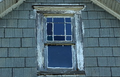From The Past (Diane Marshman) Tags: wood old white house building window glass architecture farmhouse vintage grey woodwork paint antique gray ruin panes weathered siding rundown deterorated