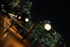 Dodging the Pokemon chasers (Pat Charles) Tags: sydney sydneyoperahouse city newsouthwales nsw australia travel tourism lights globe leadinglines people person dusk evening night nighttime outdoor outside building buildings skyscraper shade shadow shadows urban exploration harbor harbour ferry nikon 1001nights 1001nightsmagiccity
