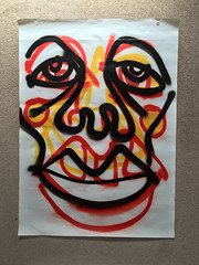 Commitments (Krillinator) Tags: street uk red summer portrait england sun white black colour detail art nature face lines yellow illustration composition self work garden painting paper outside outdoors layout graffiti photo student paint artist different hand bright personal outdoor drawing expression contemporary background border creative free vivid surreal style images spray illustrative line marks size illustrator draw outlines simple produced bold foreground individual 2016