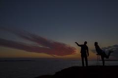 Icelandic midnight sun (Benedikt Halfdanarson) Tags: sunset slsetur slarlag clouds midnightsun silhouette iceland sland