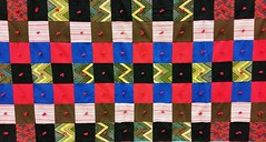 Red and Blue Quilt (edanalog) Tags: material patterns optical illusions