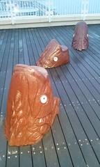 2014 (elvendreams) Tags: wooden fish cutout cut sculpture woodwork ocean sea oasis bay tokyo tokyobayoasis deck