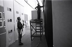 "smail Saray and Jenni Boswell-Jones, Installation of ""33me Salon de la Jeune Peinture"" Exhibition (SALTOnline) Tags: saltaratrma saltresearch saltonline ismailsaray jenniboswelljones 33mesalondelajeunepeinture grandpalais paris 1982 sergi kurulum exhibition installation"