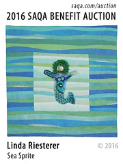 Sea Sprite by Linda Riesterer (saqaart) Tags: artquilts saqa fiberart quilts textiles artwork stitched layered