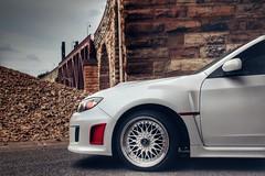 WRX (YaBoyReggie) Tags: car automobile mpls stonearchbridge subaru wrx white mn rims
