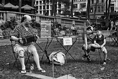 Young Admirers (CVerwaal) Tags: accordions blackandwhite bryantpark children music performers newyork ny usa nyc concertina jodykruskal sonyrx100iii